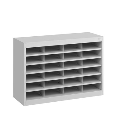 Safco E-Z Stor 24-Compartment Literature Organizer Gray 9211GRR