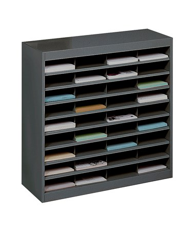 Safco E-Z Stor 36-Compartment Literature Organizer Black 9221BLR