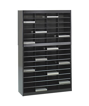 Safco E-Z Stor 60-Compartment Literature Organizer Black 9231BLR