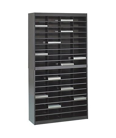 Safco E-Z Stor 72-Compartment Literature Organizer Black 9241BLR