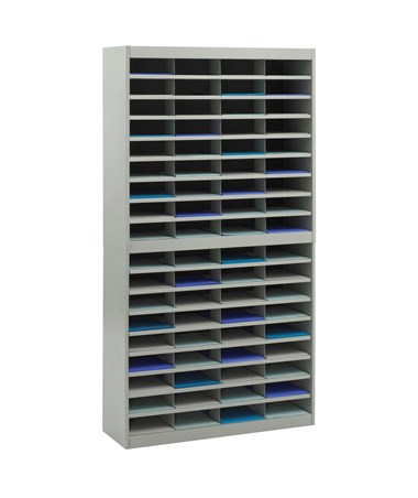 Safco E-Z Stor 72-Compartment Literature Organizer Gray 9241GRR