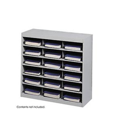 SAFCO9264GR-E-Z Stor® Steel Project Organizer, 18 Compartments Gray SAF9264GR