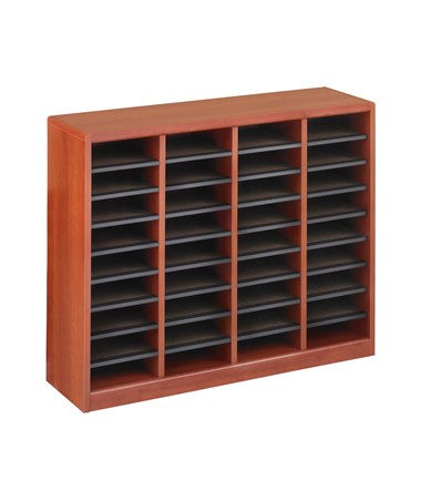 Safco E-Z Stor 36-Compartment Wood Literature Organizer Cherry 9321CY