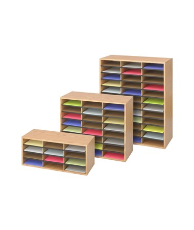 Safco Wood/Corrugated Literature Organizer SAF9401