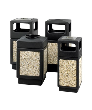 Safco Canmeleon Aggregate Panel REceptacles Black