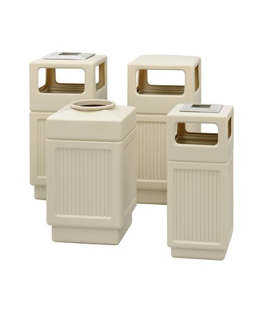 Safco Canmeleon Recessed Panel Receptacle Tan