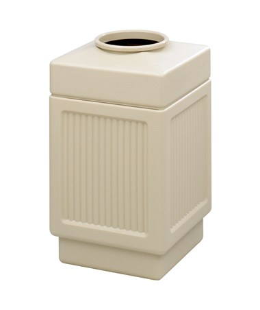 Safco Canmeleon Top Open Recessed Panel Waste Receptacle Tan 9475TN