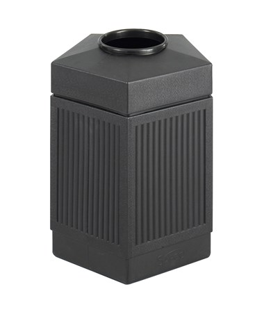 Safco Canmeleon 45-Gallon Indoor/Outdoor Pentagon Waste Receptacle 9486BL