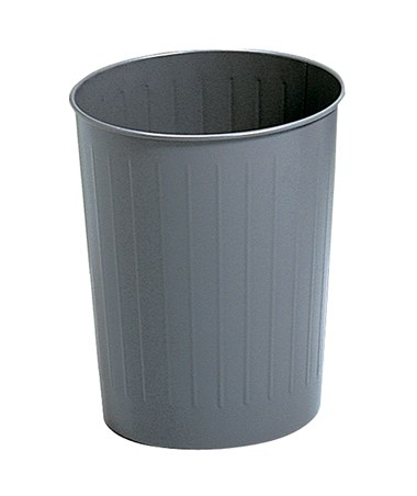 Safco 23.5-Quarts Round Wastebasket Charcoal 9604CH