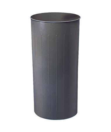 Safco 80-Quarts Round Wastebasket Charcoal 9610CH