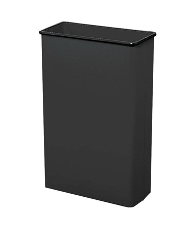Safco 88-Quarts Rectangular Wastebasket Black 9618BL