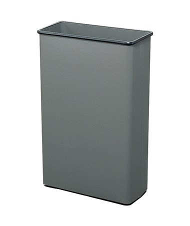 Safco 88-Quarts Rectangular Wastebasket Charcoal 9618CH