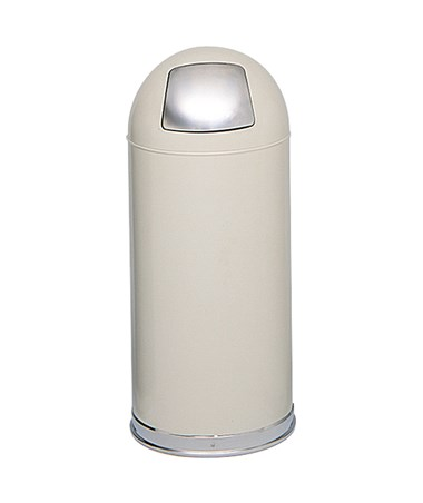 Safco Push Door Dome Top Receptacle Putty 9636PT