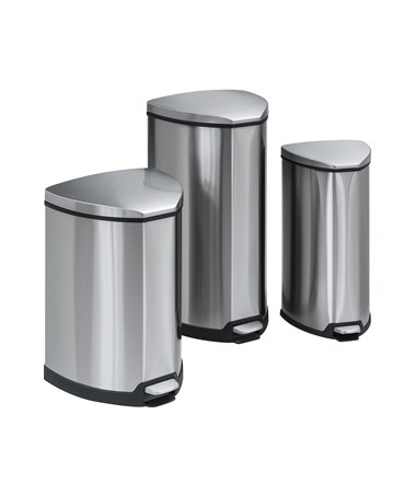 Safco Stainless Step-On Receptacle