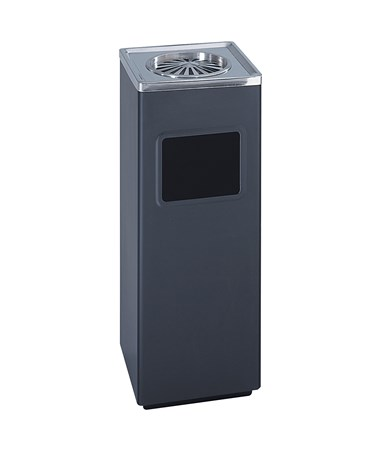 Safo Square Ash And Trash Receptacle SAF9696BL