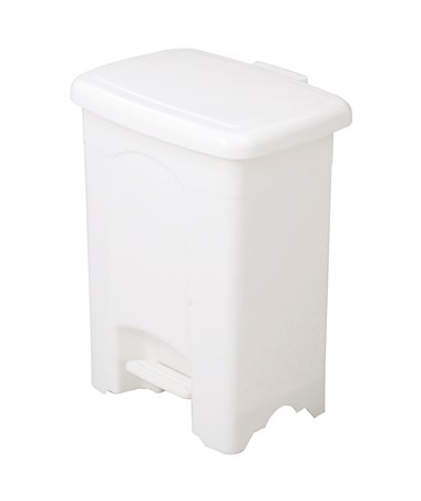 Safco Plastic Step-On Receptacle White 9710WH