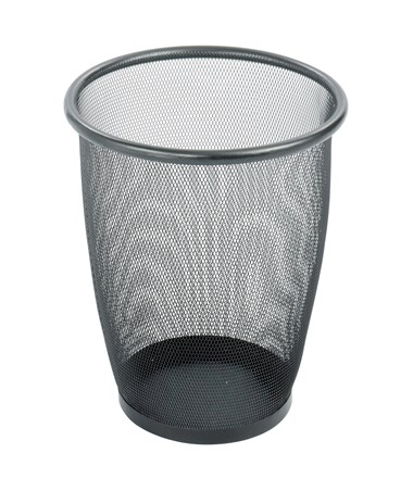 Onyx Mesh Medium Round Wastebasket 9717BL
