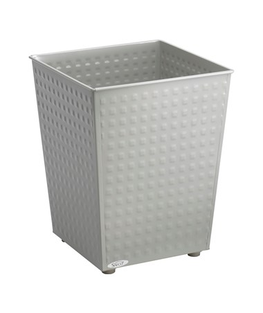 Safco Checks Wastebasket Gray 9733GR