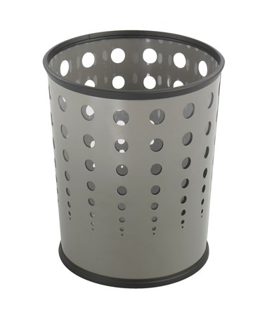 Safco Bubble Wastebasket Gray 9740GR