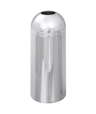 Safco Reflections Chrome Open Top Dome Receptacle