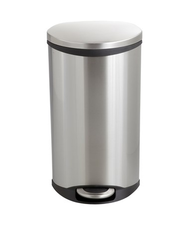 Safco Ellipse Step-On Waste Receptacle Stainless Steel