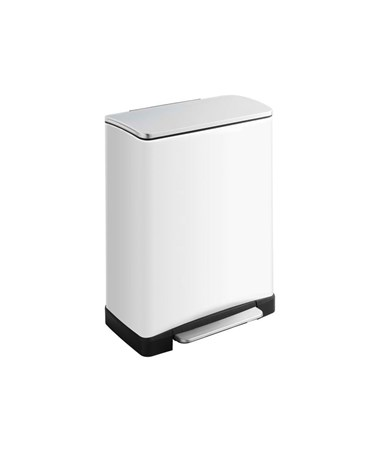 Safco Squared Step-On Waste Receptacle SAF9905WH