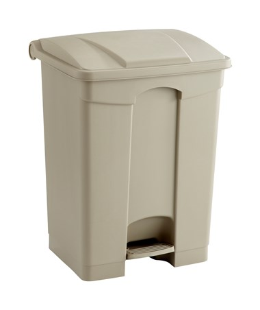 Safco 17-Gallon Plastic Step-On Waste Receptacle Tan 9922TN