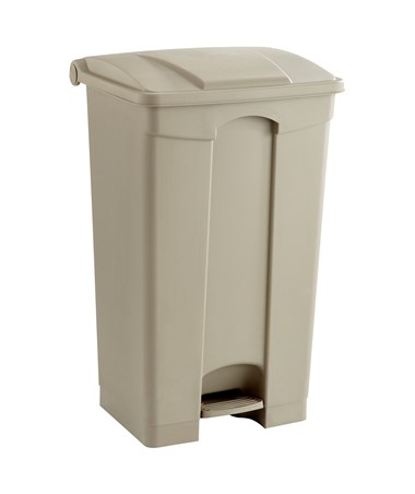 Safco 23-Gallon Plastic Step-On Waste Receptacle Tan 9923TN