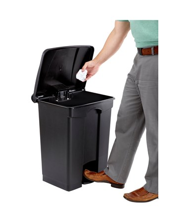 Safco Plastic Step-On Waste Receptacle