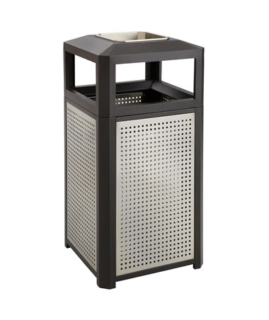 Safco Evos Series Steel Waste Receptacle with Ash Urn