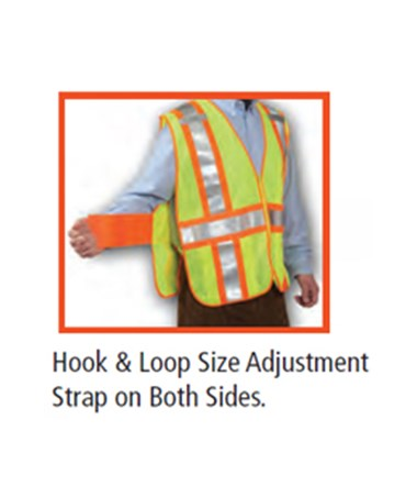 Hook and Loop size adjustment strap on both sides