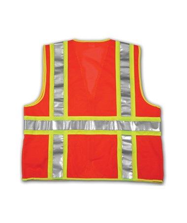 Back view of the safety vest