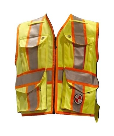 Safety Apparel Heavy Duty Party Chief Surveyor's Vest Yellow SAFPC15XO-