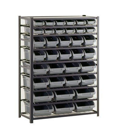 8 Shelves and 36 Bins