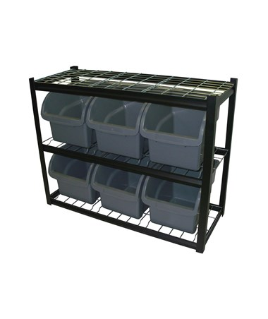 Sandusky Lee Bin Shelving with Plastic Bins SANIBU421633-
