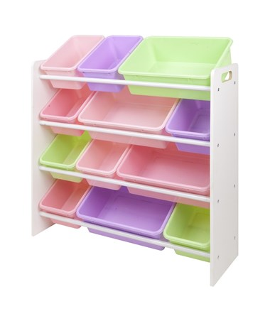 Pastel Bins and White Panels