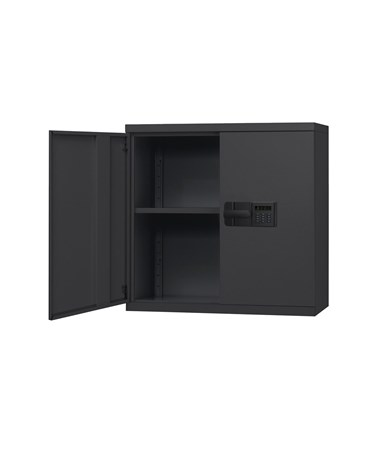 Sandusky Lee Boltless Wall Cabinet with Keyless Electronic Lock SANKDEW3012-BLK-