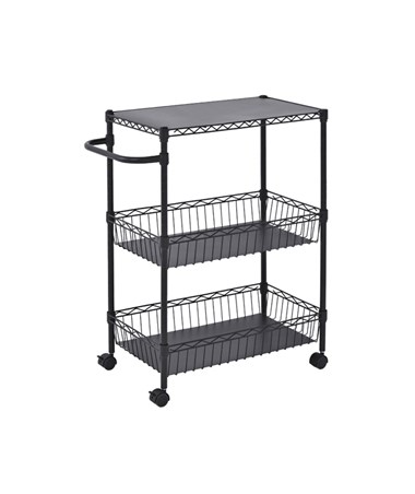 Sandusky Lee Black Wire Basket Cart SANMKT241434