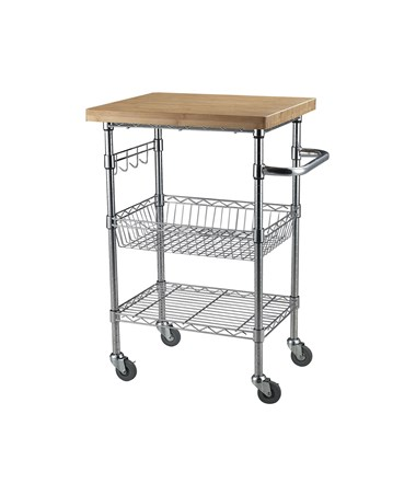 Sandusky Lee Bamboo Top Wire Cart SANMKTBB242036