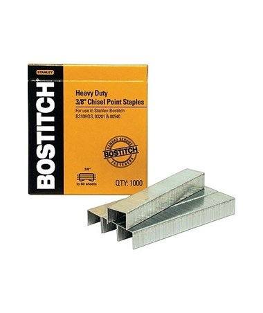 "Stanley-Bostitch 3/8"" Premium Heavy-Duty Staples (1,000 Staples/Box) SB35-3/8"
