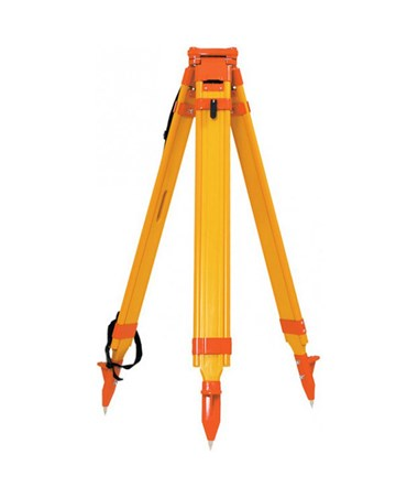 Seco Birch Wood/Fiberglass Quick Clamp Hybrid Tripod, Orange 5302-12-ORG
