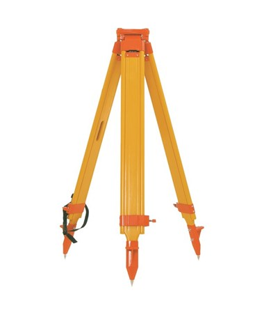 Seco Birch Wood/Fiberglass Twist-Lock Hybrid Tripod, Orange 5402-12-ORG