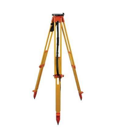 Seco Heavy Duty Wood Twist Lock Tripod - Orange and Yellow 5420-13-ORG