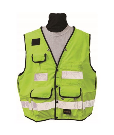 Seco 8068-Series Class 2 Lightweight Safety Utility Vest; Fluorescent Yellow