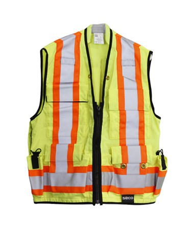 Seco 8261-Series Class 2 Safety Utility Vest SEC8261-L-FLY-