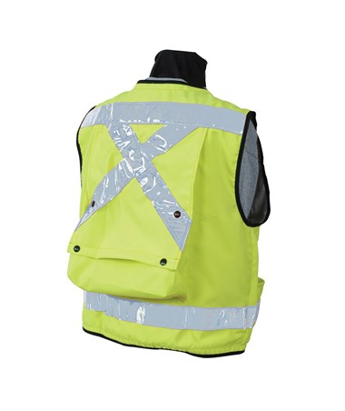 SECO Class 2 Lightweight Safety Utility Vest X-Large Fluorescent Yellow
