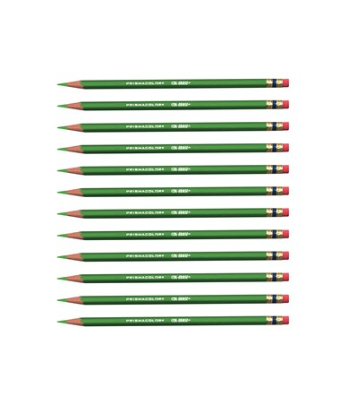 Prismacolor Col-Erase Erasable Color Pencil (12-Pack) Grass Green SN20061
