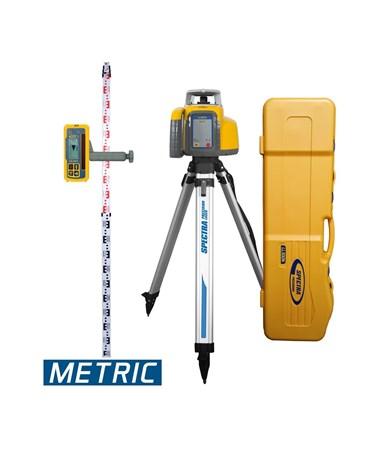 Spectra LL300N With HL450 Receiver, Alkaline Batteries, Tripod And Rod (Metric)