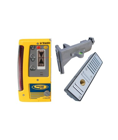 Spectra CR600 Laser Detector, C50 Rod Clamp and C51 Magnetic Wall Mount