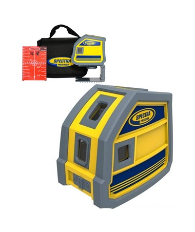 Spectra LP51 5-Point Red Beam Laser Level SPELP51